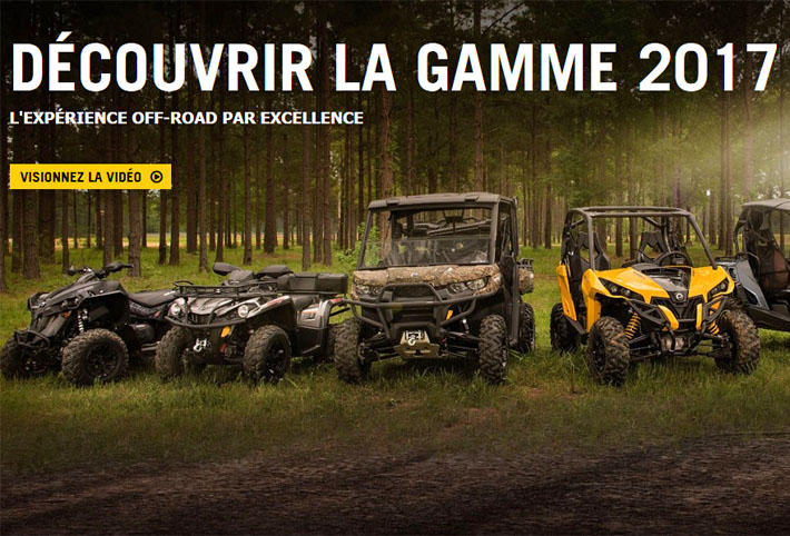 Vente Quads SSV Can Am